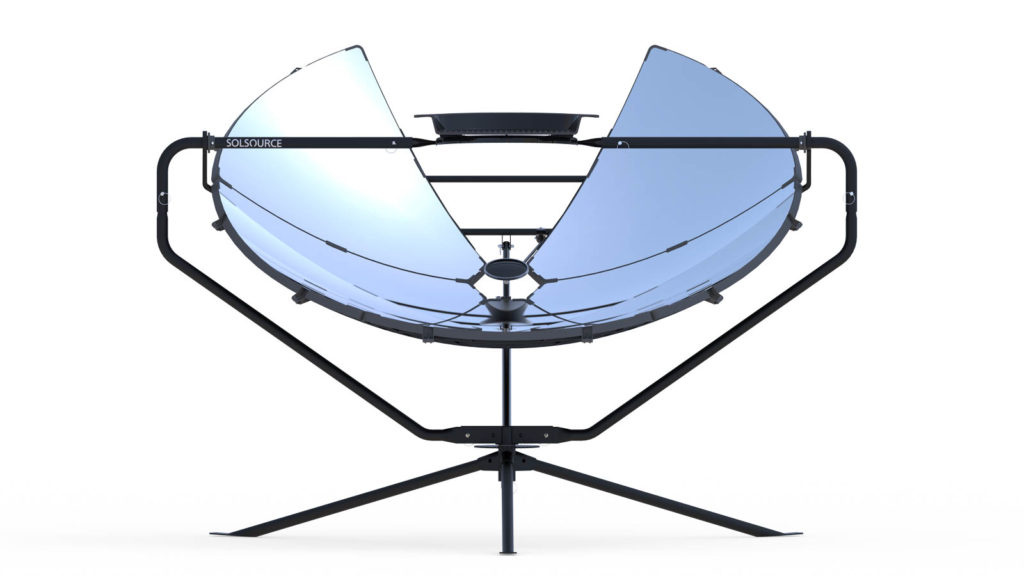 SolSource solar cooker white background