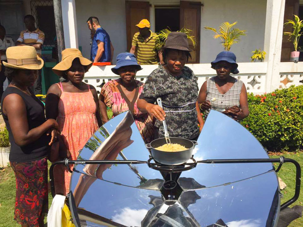 Solar women in Haiti